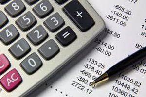 bookkeeper using calculator